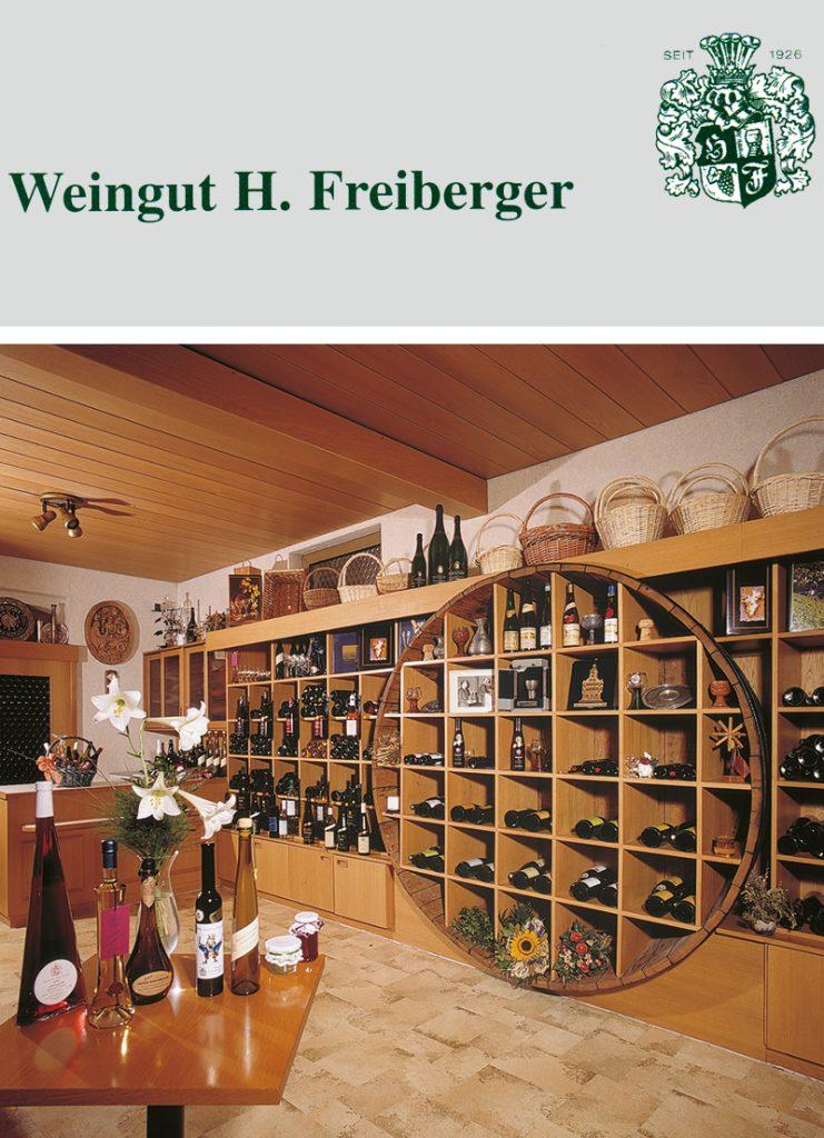 bergstrasse_roter riesling_Weingut Freiberger Verkaufsraum_mit Logo